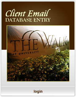 The Walk Of Coral Springs - Client Email Database Entry